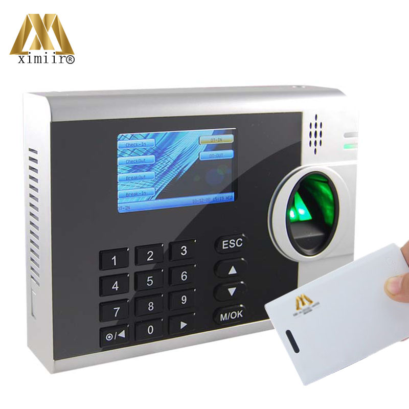 Free Shipping Fingerprint Time Attendance With IC Card Reader Time Clock XM218 Fingerprint Time Recorder Support Multi Language