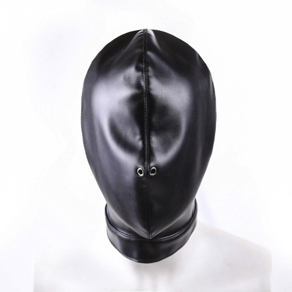 PU Leather Bdsm Mask Harness Breathable Bondage Hood Restraint Punishment  Sex Mask, Bdsm Slave Adult Games Sex Toys for Couple.
