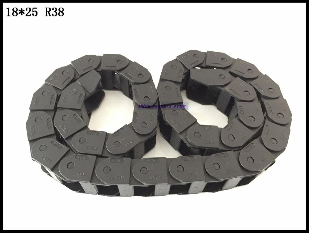 1pcs 18x25mm R38 Cable Drag Chain Wire Carrier with End Connector 18mm x 25mm L1000mm 40 for 3D CNC Router Machine Brand New 10 x 20mm 10 20mm l1000mm plastic nylon cable drag chain wire carrier for cnc router machine tools