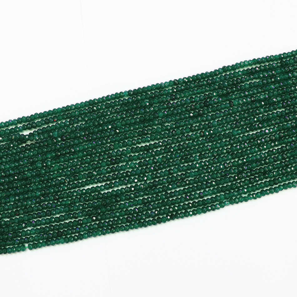 HOT dark green aventurine 2x4mm faceted abacus round loose diy jewelry beads 15″ B563