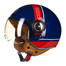 Motorcycle Helmet Chopper 3/4 Open Face Vintage Helmet Moto