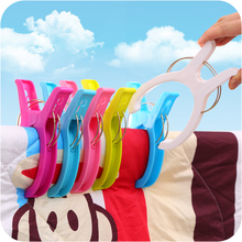 12pcs Big Size Stong Plastic Laundry Towel Clips For Patchwork Sewing Clamp Clothes Clip Drying Racks Windproof Hanging Pegs