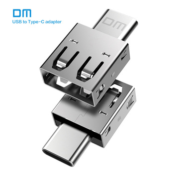 Free shipping DM Type-C Adapter TYPE C-B USB C Male to USB2.0 Femail USB OTG converter for devices with typec interface