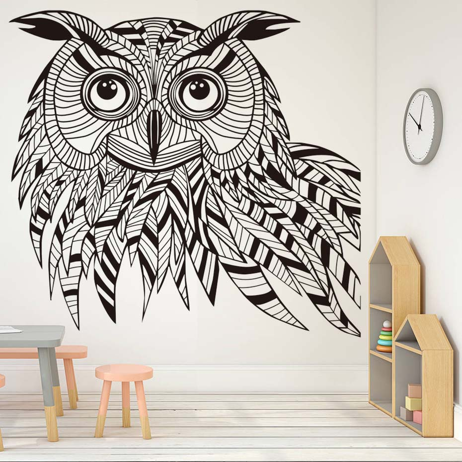 Beautiful Animal Pattern Owl Wall Sticker For Kids Rooms Wall Decor Removable Vinyl Wall Art Decals Stickers Home Decoration