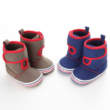 New Fashion Classic Casual Newborn Baby Boy Girls Kids Prewalkers Winter Boots Booty Toddler Soft Soled Shoes Booties 0-1 Years