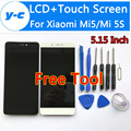 For Xiaomi Mi5S LCD Display+Touch+Tool High Quality 100% New Digitizer Touch Screen Glass Panel For Xiaomi Mi5/Mi 5S 5.15 inch