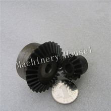Bevel Gear 15Teeth 30Teeth ratio 1:2 Mod 2, 45# Steel Right Angle Transmission parts DIY Robot competition M=2