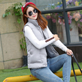 Winter Warm Jacket Women Slim Cotton Vest Ladies Solid Outwear