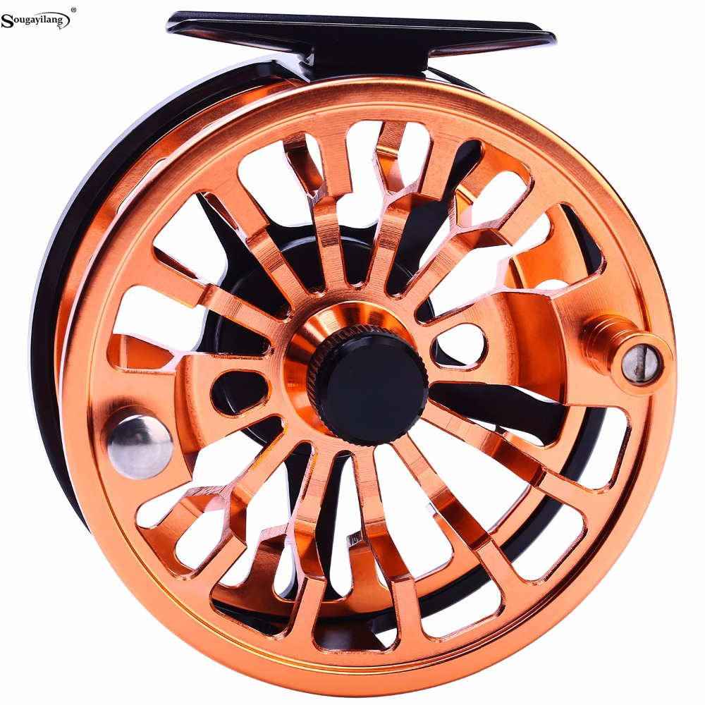 Sougayilang Fly Fishing Reel Left/Right Hand Coil Die Casting Aluminium Alloy Spool Fly Reel Saltwater Fishing Tackle 5/6 7/8 new luna 7 6 1 bait casting reel 12bb 5 0kg 151g super light fishing reel machined aluminum spool for carp fishing tackle