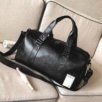 Free Shipping Popular Design PU Leather Weekend Waterproof Bag Portable Highcapacity Men's Leisure Business Travel Bag Handbag