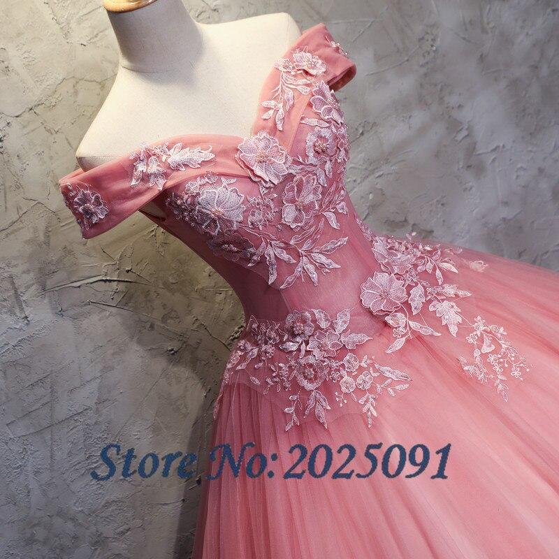 2019 nouveau camée brun Quinceanera robes Tulle avec dentelle Appliques mascarade robe De bal douce 16 robe Vestidos De 15 Anos - 4