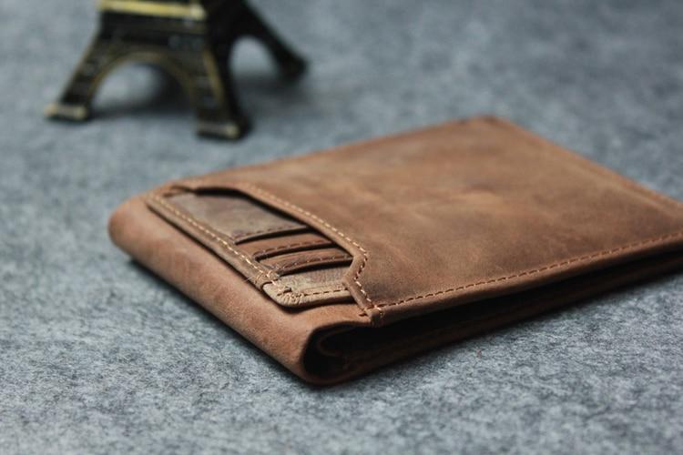 Slim Genuine Leather Wallet Men's Bifold Front Pocket with Detachable Card  Holders Gift Wallet wallet free wallet holderwallet leather mens -  AliExpress