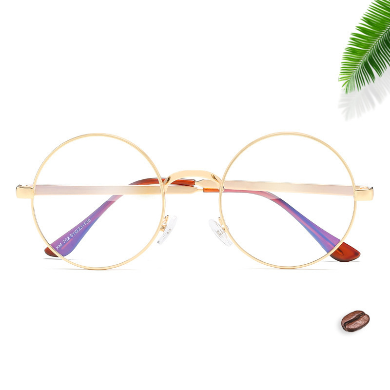 Kaleidoscope Glasses Men Women Metal Round Spectacle Glasses Frames With Clear Lens Optical Frame Transparent Eyeglasses