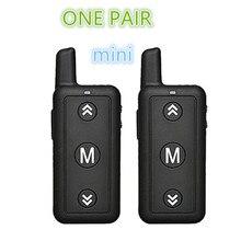 2PCS Mini Walkie talkie brinquedo 16 Canais VV 109 Two Way Rádio Leixen Woki Toki 1 Watt Walkie Talkie FRS Pequeno Tamanho para o Restaurante e Crianças