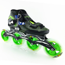 inline speed skates Carbon fiber professional women/men inline skates racing shoes adult child patines 4 ruedas skating shoes