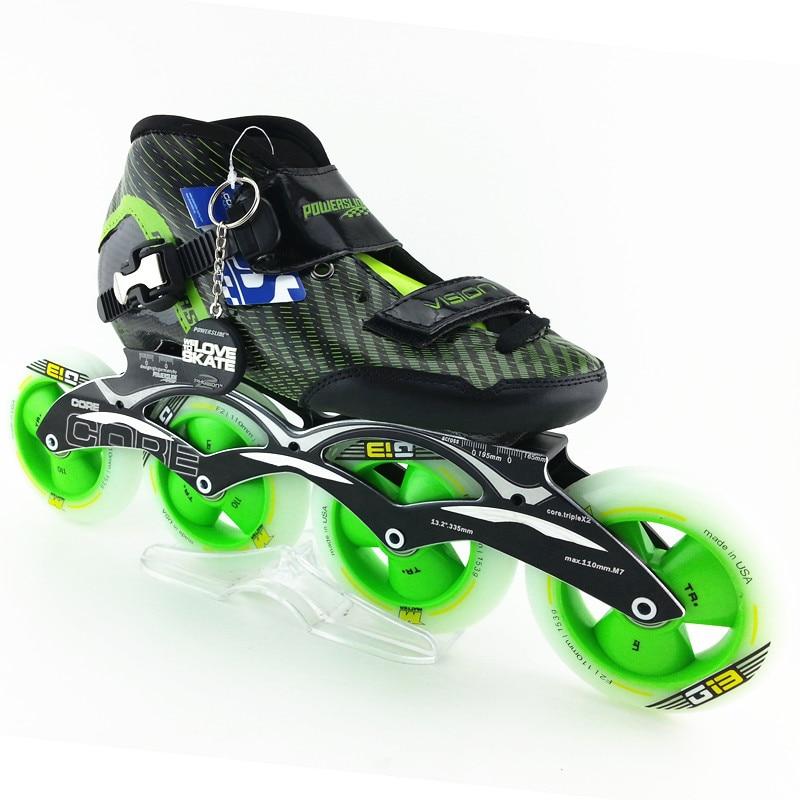 все цены на inline speed skates Carbon fiber professional women/men inline skates racing shoes adult child patines 4 ruedas skating shoes онлайн