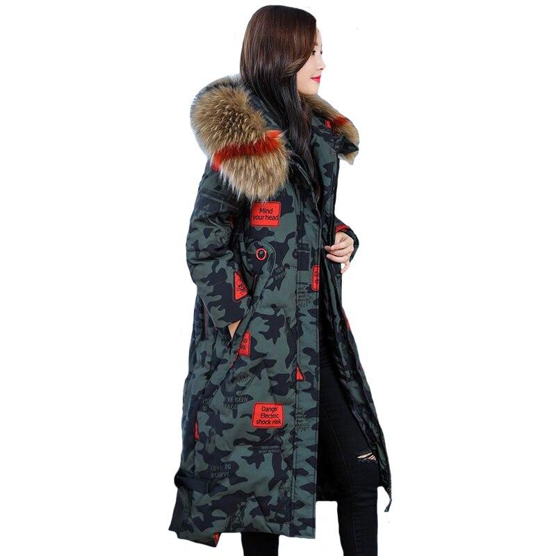 D'hiver army Green Manteau xxxxxl Haute Qualité Femmes Plus Chaud Armée Veste Outwear Vert L Noir Taille gris La Camouflage 2018 Parkas dCACq