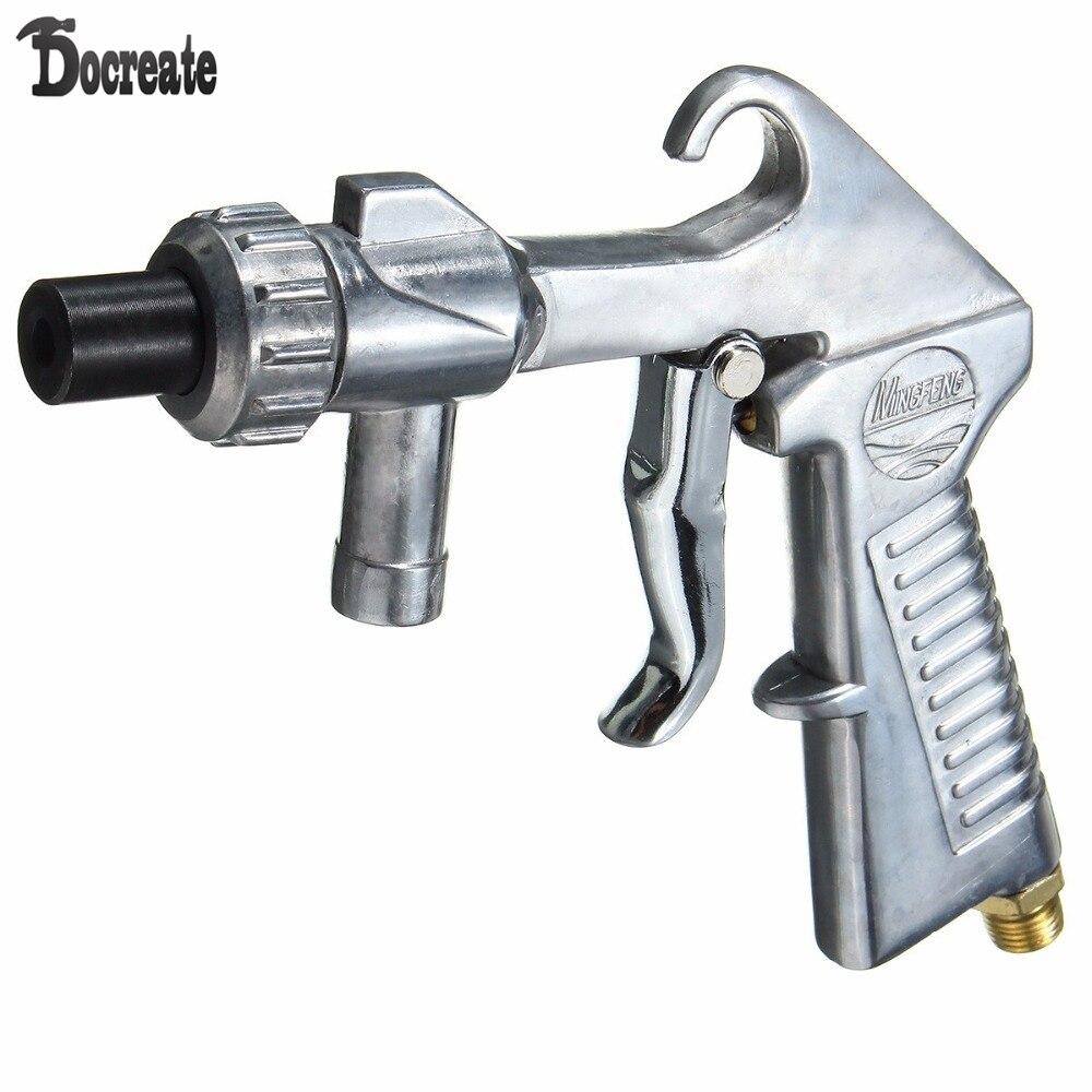 Industrial Spray gun Air Sandblaster Kit Sand Blaster Grit Blasting with 3 Ceramic Steel Nozzles