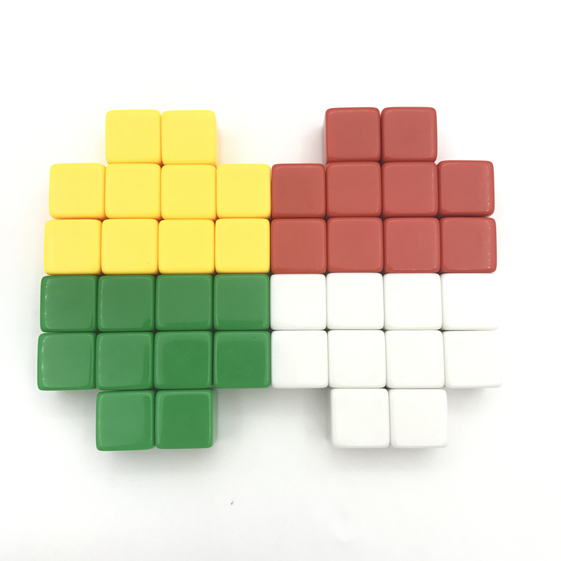 Yernea High quality 50Pcs Lot 16mm Blank Dice D6 Color Can Write and Carving Blank Dice Children Teaching Game Dice Wholesale in Dice from Sports Entertainment