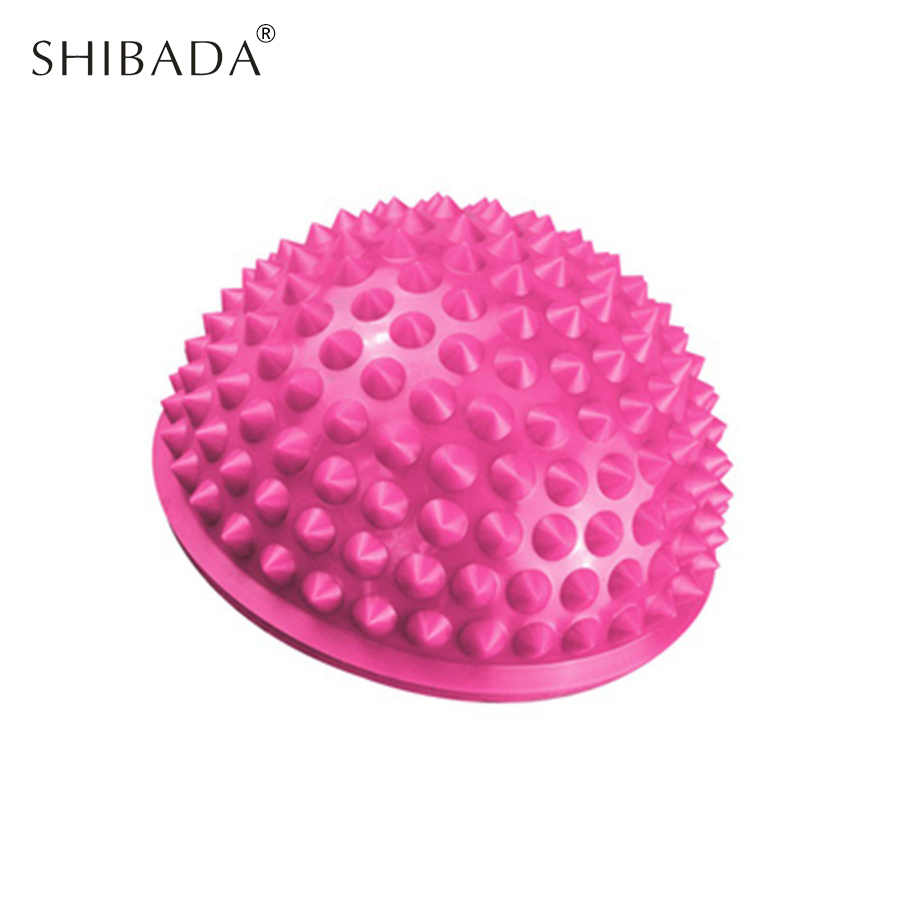 SHIBADA PVC Fitness Ball Crossfit Semicircle Tactile Exercises Acupoint Pilates Balls Relieve Fatigue Inflatable Massage Balls