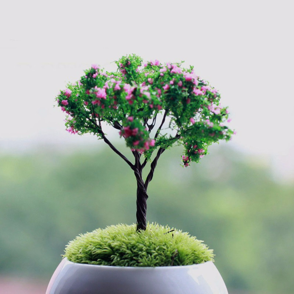 Mini Tree Fairy Garden Decorations Miniatures Micro Landscape Resin ...