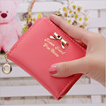 Korea Fashion 2016 New arrival high quality faux leather women wallets multi-cards position short zipper purse female