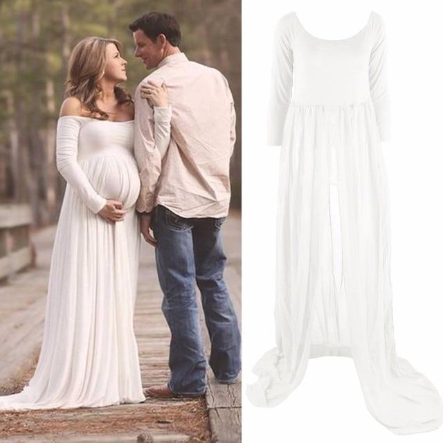 34a32496 US $21.47 |Puseky Hot sukienka ciążowa gaza fotografia rekwizyty kobiety w  ciąży długa sukienka sesja zdjęciowa suknie dla kobiet w ciąży, co ...
