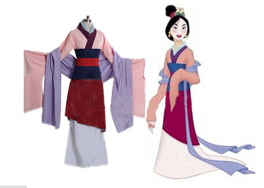 Изготовленный на заказ, взрослый костюмы Мулан Хуа мулань костюм косплей принцесса Мулан платье Фильм Хэллоуин костюмы для женщин плюс размер