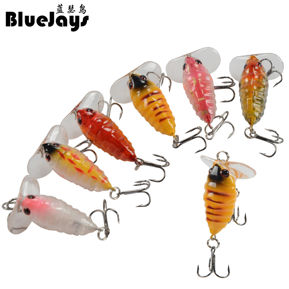 BlueJays 1 Pcs Kunststoff Top wasser Insekten Locken 4 cm 4,2g Angeln Köder Bass Crank Bait <font><b>Fishing</b></font> Tackle image