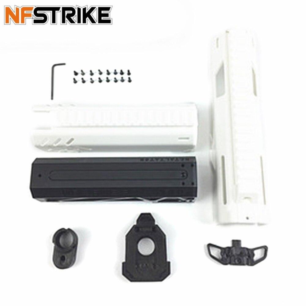 NFSTRIKE Maliang Elite Type balle molle émetteur extérieur PDW1 composant de Kit déroulant pour Nerf rétorsion noir blanc