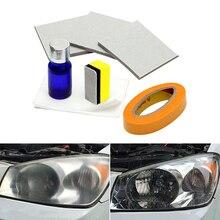 Автомобильный налобный фонарь полировальный Налобный осветитель комплект против царапин комплект для восстановления фар для автомобиля