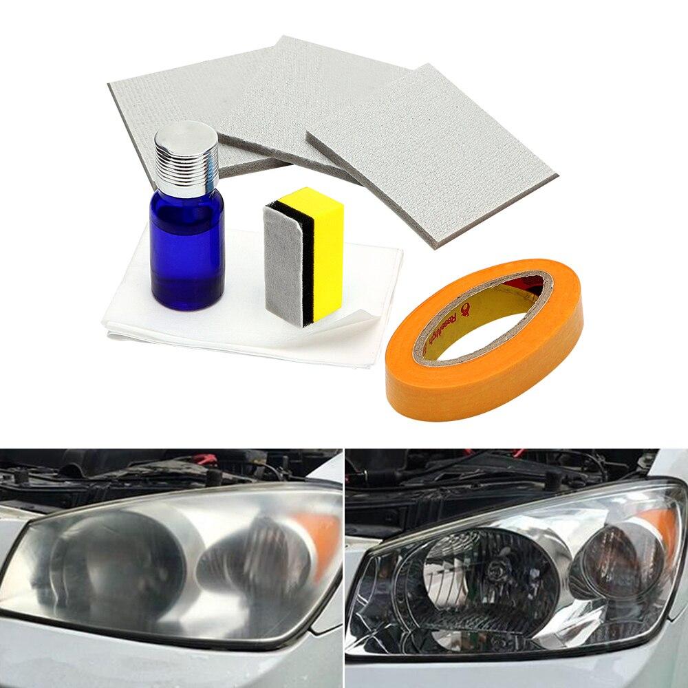 Phare de voiture Polissage Projecteur Azurant Kit Anti-scratch Phare Restorstion Kit pour Voiture Tête Lampe Lentille Restaure Clarté