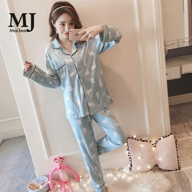 MaiJee Pink Pigiama Donna Night Suit Pajama Pijama Feminino Pyjama Femme lenceria Pijama ...