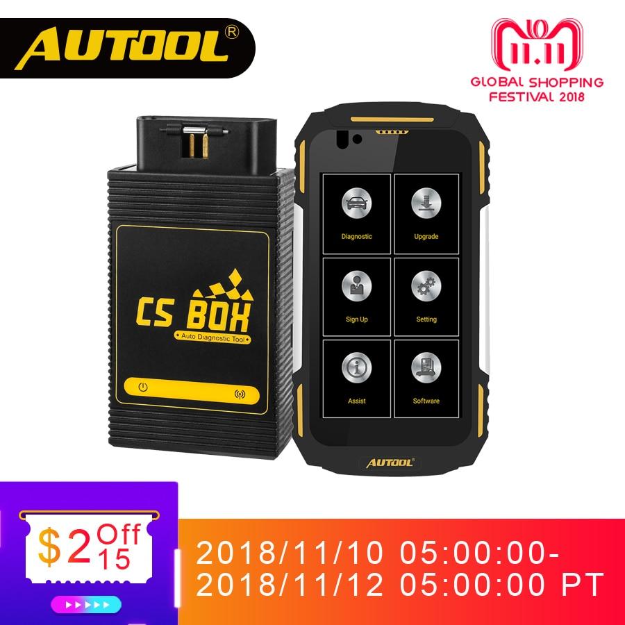 AUTOOL CS BOX Pro Mdiag Facile Diag Airbag OBD2 Scanner Bluetooth Multi di Diagnostica del Sistema IP67 Urti Polvere di Acqua A Prova di Trasporto telefono