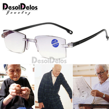 Fashionable Ultralight Rimless Reading Glasses Women Men Clear Lens Anti-Blu-Ray Computer Glasses Presbyopia Reader Glasses zilead ultralight oversized frame reading glasses women men clear relieve fatigue lens anti radiation presbyopia reader glasses