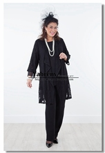 2017 New arrival Mother of the bride pant suits dress Four piece outfit Vest+Trousers+Jacket+Skirt