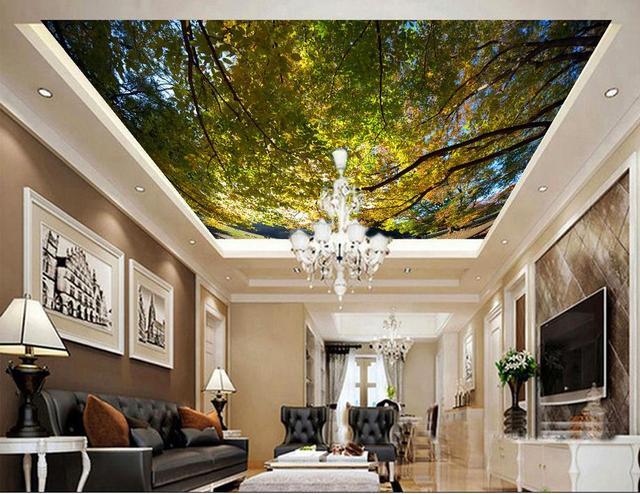 Benutzerdefinierte 3d decke wandmalereien Traum Wald tapete für ...