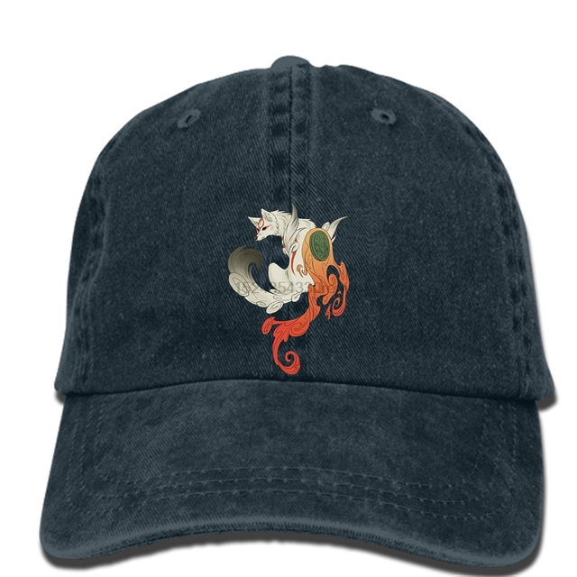 10d37ccc776d7 hip hop Baseball caps Summer New Men cap ness Men s Okami Amaterasu Game  Character Black hat