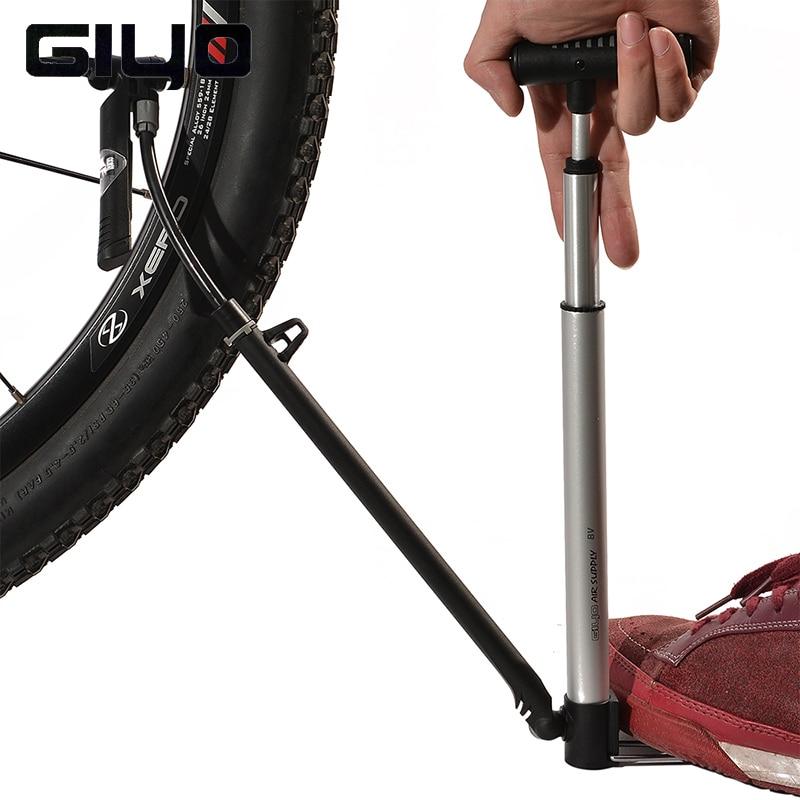 GIYO Professional Bicycle Bike Portable <font><b>Pump</b></font> 140/160PSI Cycling Aluminum <font><b>Pump</b></font> 5 Styles Bike Accessories Schrader & Presta Valve