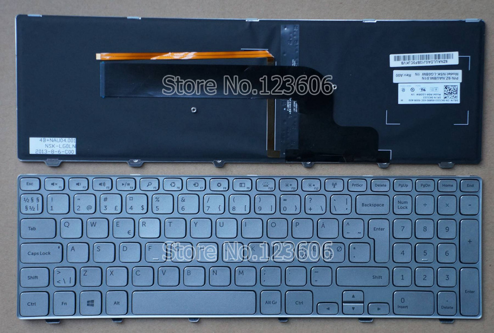 New Keyboard For Dell Inspiron 15 7000 Series 7537 Laptop