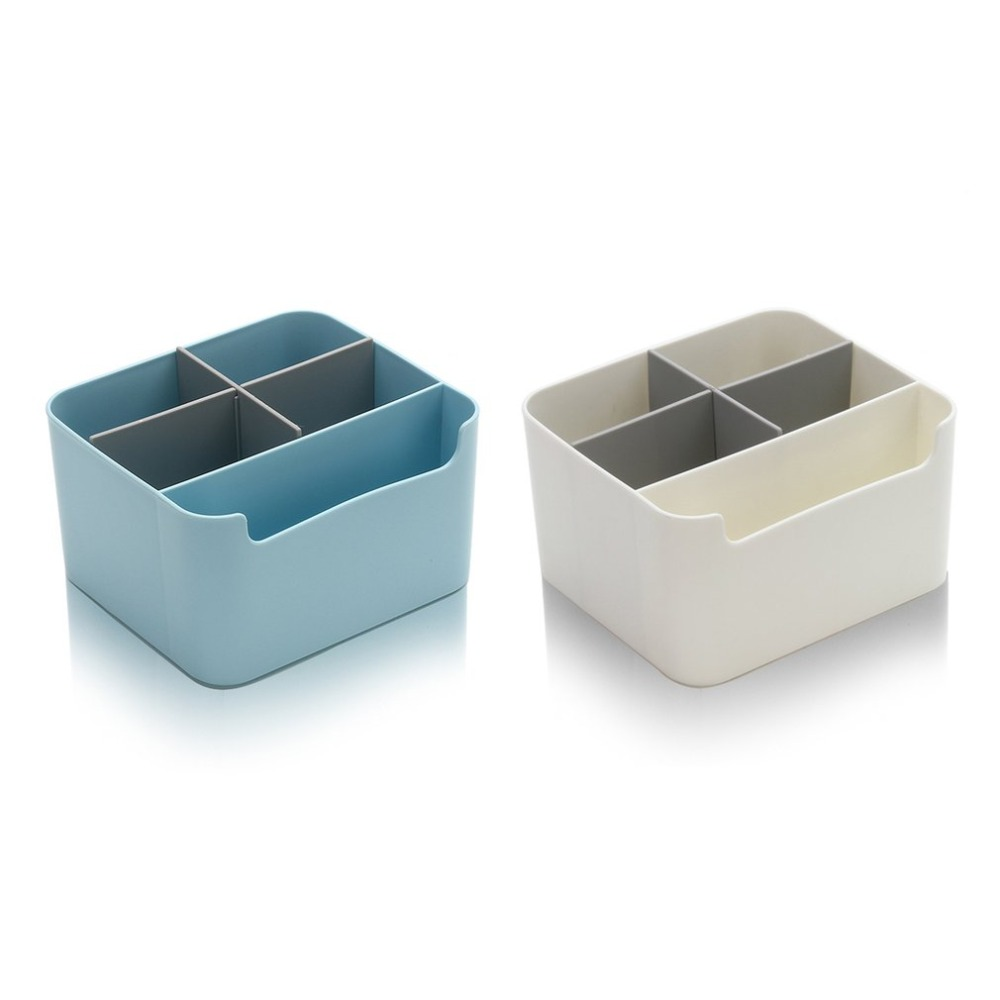 New Plastic Cosmetic Storage Box Grid Storage Box Multifunction Desktop Supplies Organizers Makeup Storage Case for Home Office