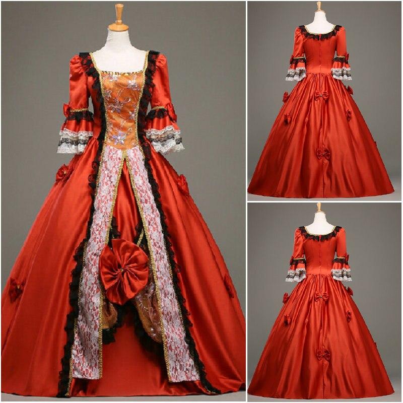 1860 s rosso velluto guerra civile southern belle palla abito da sera  dress vittoriano scarlett lolita vestito us6 SC 786 in 1860 s rosso velluto  guerra ... 4dde98fd723