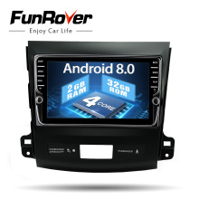Funrover unique IPS 8″ Android8.0 2 din Car DVD for Mitsubishi Outlander 2006-2014/Peugeot 4007/Citroen C-Crosser Radio gps wifi