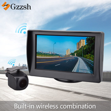 Built-in wireless transmission reverse camera hd and 4.3 inch monitor for BMW Toyota Audi Mercedes Benz special rear view