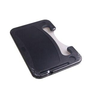 Image 5 - Auto Stuurwiel Bureau Draagbare Mini Tafel Universele Laptop Tablet Drink Voedsel Cup Lade Houder Notebook Stand Auto Accessoires