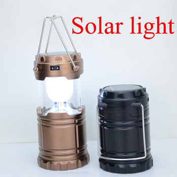 portable vintage retro style solar powered camping led lantern light for outdoor hiking travel working lamp - Solar Powered Lanterns