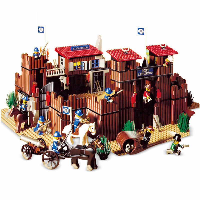 742pcs The Idian Cowboy`s Castle Set Educational Legoings Building Blocks Kit Toys Kids Birthday Christmas Gifts