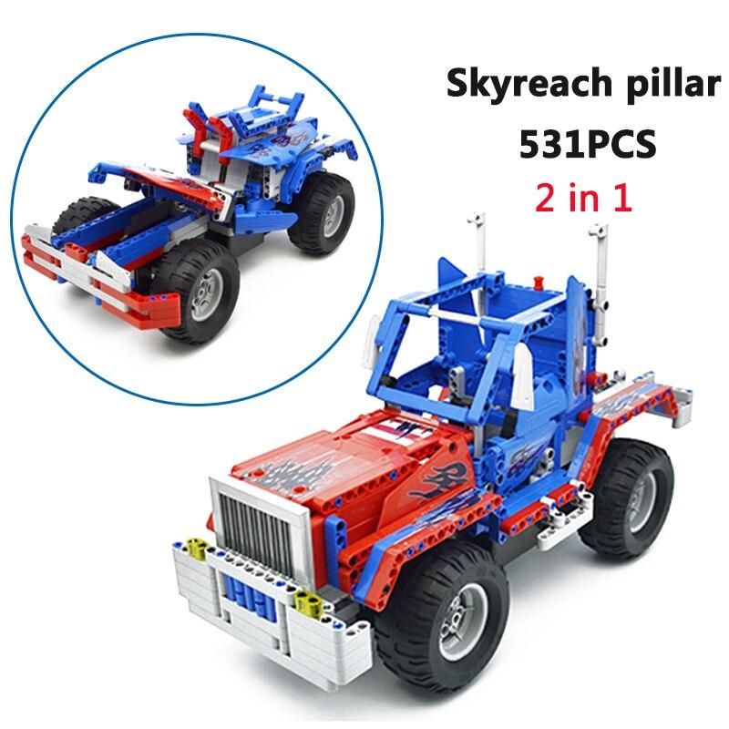 531 pièces CaDA Buliding Blocs De Voiture Skyreach pilier C51002 Modèle bricolage jouet à bloc De Construction RC Voitures Cadeau