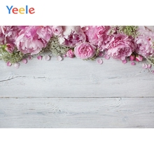 Yeele Vinyl Pink Flowers Wood Board Children Birthday Party Photography Backdrop Wedding Photographic Background Photo Studio allenjoy vinyl photo backdrops pink board flowers romantic wedding backdrop photocall professional customize excluding stand