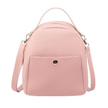 2019 Korean Women Fashion Style Stylish Lychee Shell Pattern Shoulder Bag Candy Solid Handbags Crossbody Bags